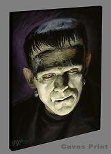 Frankenstein Canvas Print - Reduced! monster, horror, Karloff - Mtg D&D Baxa