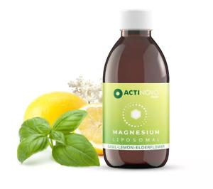Liposomal Magnesium + Basil, Lemon & Elderflower - 250ml