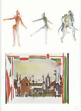 Publicité ancienne étude de costume oiseau 1955 issue de magazine