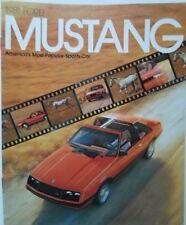 FORD mustang 1981 brochure catalogue prospekt