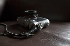 Handmade Genuine Real Leather wrist camera strap for film&EVIL camera Black
