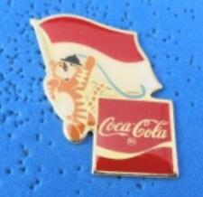 1988 Coca Cola Ltd Edition Flag Pin - Indonesia