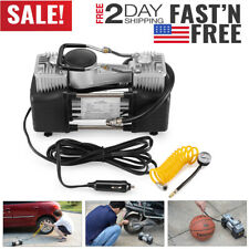 150 PSI Car Tire Inflator Auto Air Pump Compressor Portable Heavy Duty 12V Volt