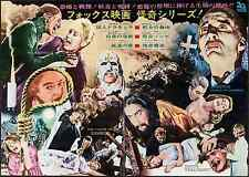 HAMMER FILMS Japanese press movie poster CHRISTOPHER LEE PETER CUSHING 1972 RARE