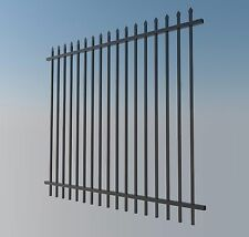 1.8m High Security Fence Fencing Panel Black