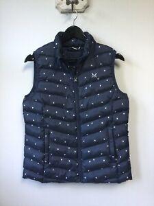 Gorgeous Ladies Crew Clothing Co Navy Blue Patterned Gilet/Bodywarmer, UK 12, Ex
