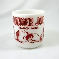VINTAGE RED  RANGER JOE ROUND UP MUG