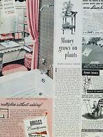 1949 Briggs beautyware white pink bathroom tub ad