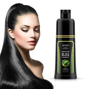 Sevich Natural Fast Hair Dye Shampoo For Cover Gray White Hair Black Shampoo