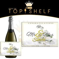 personalised champagne prosecco bottle label Wedding / anniversary