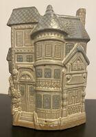 Vintage Counterpoint San Francisco Ceramic Victorian House Vase Planter Japan