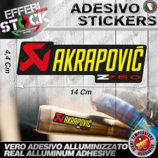 Adesivo Stickers Pegatinas AKRAPOVIC Z 750 Exaust System Scarico Marmitta 200°Gr