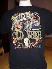 New listing Vintage 1994 American Biker 3D Emblem Hot Motorcycles & Cold Beer Shirt Xl