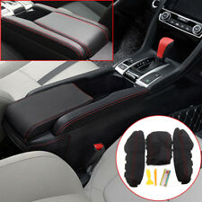 3x Pu Leather Center Armrest Box Case Cover Trim For Honda Civic 2016 2017 2018