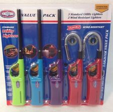 KingSFord Utility Lighter 5 Pack Adjustable Wind Resistant BBQ Grills Candles
