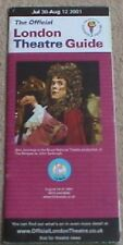 2001 London Theatre Guide (July 30-Aug 12) Phantom King And I Lion King Blood
