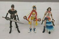 Final Fantasy X-2 Play Arts Yuna Rikku Paine Action Figure bundle