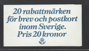 SWEDEN 1277a MNH CARRIER PIGEON *COMPLETE UNEXPLODED BOOKLET*