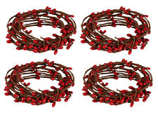 4x Holiday Red Berry Garland 9ft - Brand New Great for Crafting Christmas House