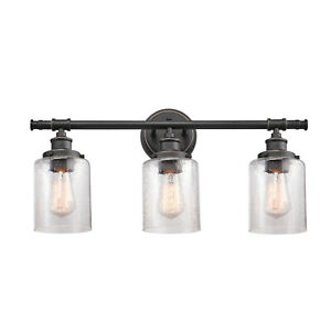 Globe Electric Camden 5-Piece All-In-One Bronze Bathroom Set, 51415