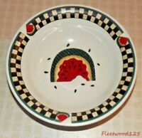 """Fresh Watermelon Vegetable Serving Bowl Tabletops Unlimited - 8.25"""" / Checkered"""