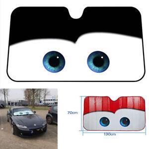 1x Big Eyes Car Front Window Sun Shade Cover Windshield Sunshade Aluminium Foil