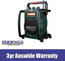 METABO 18V CORDLESS OR 240V JOBSITE RADIO CHARGER-RC14418-3YR AUSWIDE WRNTY!