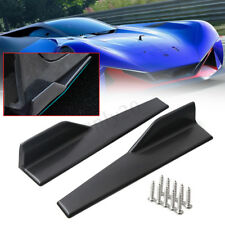 2x 45cm Universal Car Side Skirt Rocker Splitters Winglet Wing Canard Diffuser