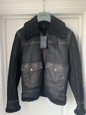 New Belstaff Templewood Black Shearling Leather jacket44IT 34UK
