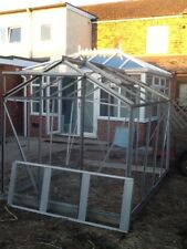 8ft x 6ft aluminium greenhouse with apex roof