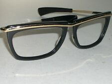 BAUSCH & LOMB RAY BAN L1004 BLACK/GOLD SLEEK OLYMPIAN II SUNGLASSES FRAME ONLY