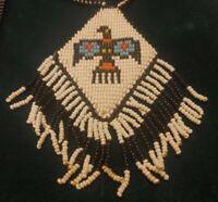 Vintage Native American   Beaded  Thunderbird  Necklace