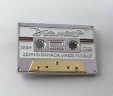 Gürtelschnalle Dsquared2 Tape, Kassette, Silber - Belt Buckle, Gürtel, Schnalle