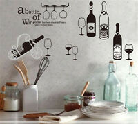 Wine Bottles Bar Home Decor Removable Wall Stickers Decal Decoration Vinyl Mural
