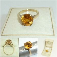 Fine 9ct Yellow Gold Citrine Solitaire Ring 2.75 carat Single Stone