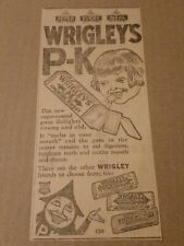 1922 Wrigleys P-K PK Gum Newspaper Ad