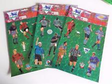 3 x 1998 MERLIN Calcio Premier League SUPERSTAR Adesivi Fogli (B)