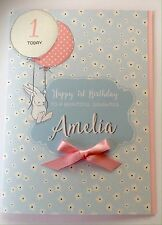 Personalised 1st Birthday Card Daughter Granddaughter Niece Sister 2nd 3rd 4th