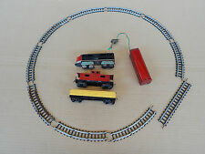 TRENO MADE IN JAPAN IN LATTA BATTERY OPERATED TIN TOY TRAIN TRENINO