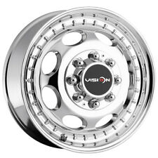 "Vision 181 Hauler Dually Front 17x6.5 8x6.5"" Chrome Wheel Rim 17"" Inch"