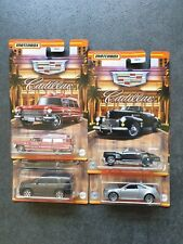 4 x Matchbox 2021 Cadillac Series: 1941 S 62 Convertible Coupe, Ambulance & more