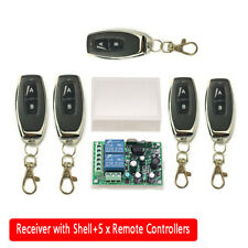2 CH Garage Door Remote Control Switch Relay Wireless Transmitter + Receiver Kit