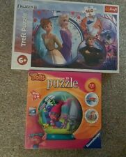 NEW Trolls - 3D Puzzle ball and Frozen 2 Jigsaw Puzzle