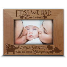 First we had each other-gift for new baby-Family Photo Frame-Nursery Decor