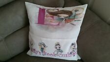 ALPHABET FAIRY BOOK  CUSHION WHITE PERSONALISED FREE, BOOK NOT INCLUDED