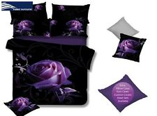 Purple ROSE Super King Size Bed Duvet/Doona/Quilt Cover Set Brand New