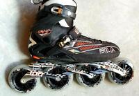 Fila FM 100 Men black orange Speedskate Herren Fitness  Skates Gr. 40