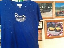 Corvette ladies  Custom Winged Heart Shirt. All sizes,Colors and choice of Word