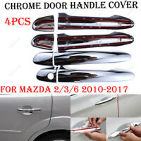 4Pcs Door Handle Cover Trim For Mazda 2 3 6 2010-2017 CX-3 CX-5 MKX MKZ Chrome