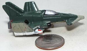 Small Micro Machine Plastic X-3 Raider Jet Fighter Aircraft in Light Green